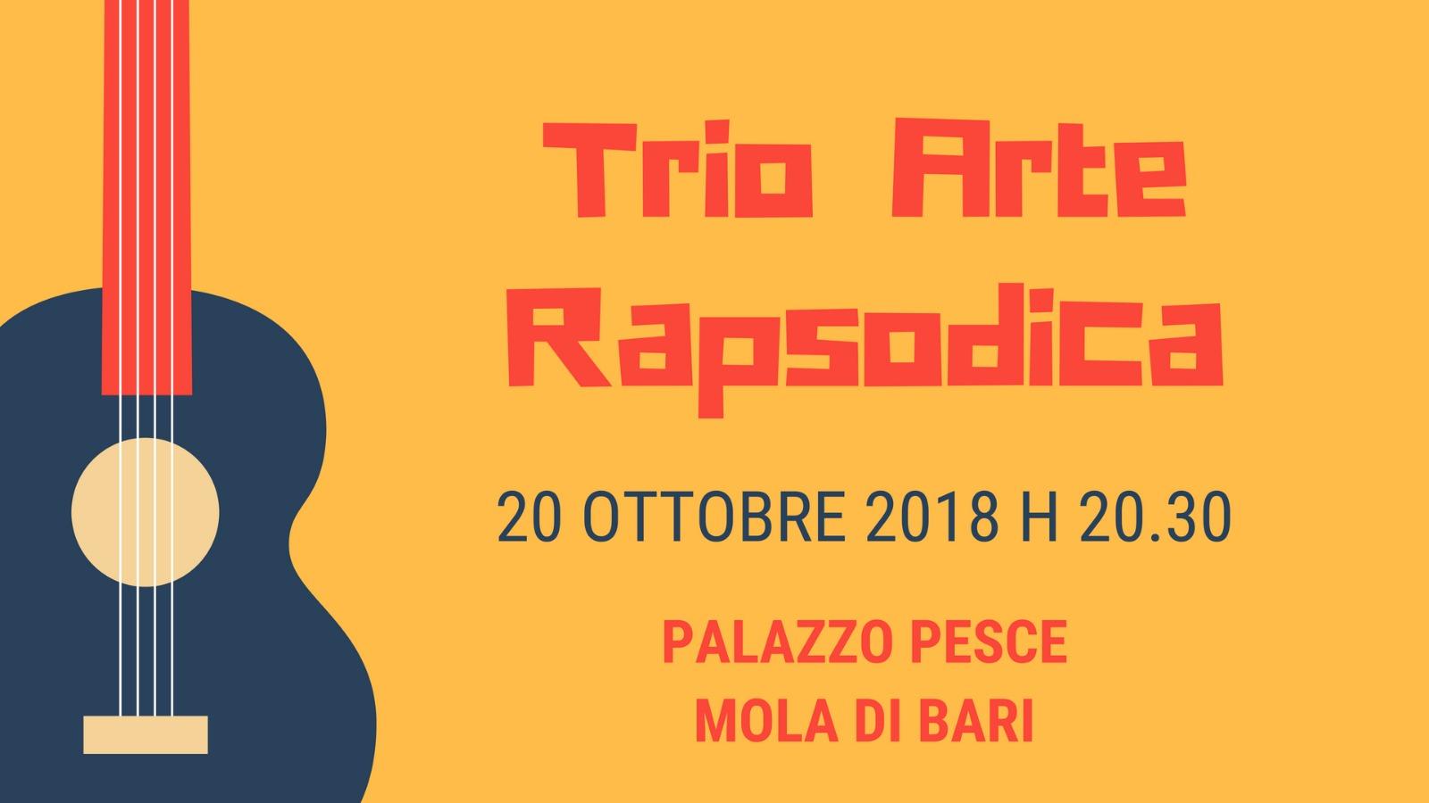 20 ottobre 2018 Trio Arte Rapsodica a Palazzo Pesce