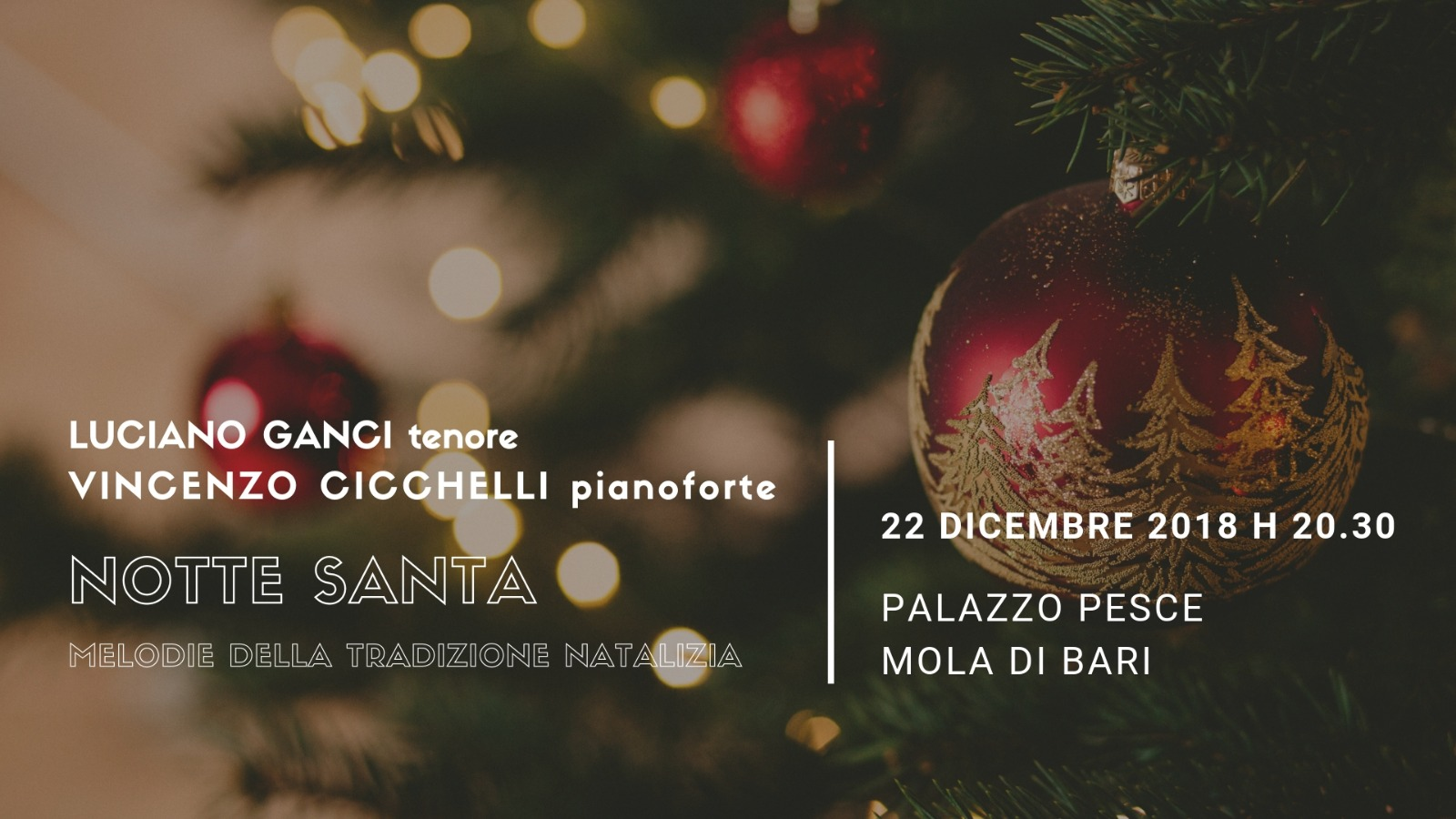22 dicembre 2018 Notte santa a Palazzo Pesce