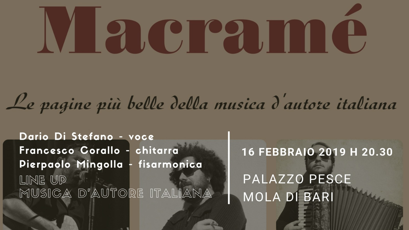 16 febbraio 2019 Macramè a Palazzo Pesce
