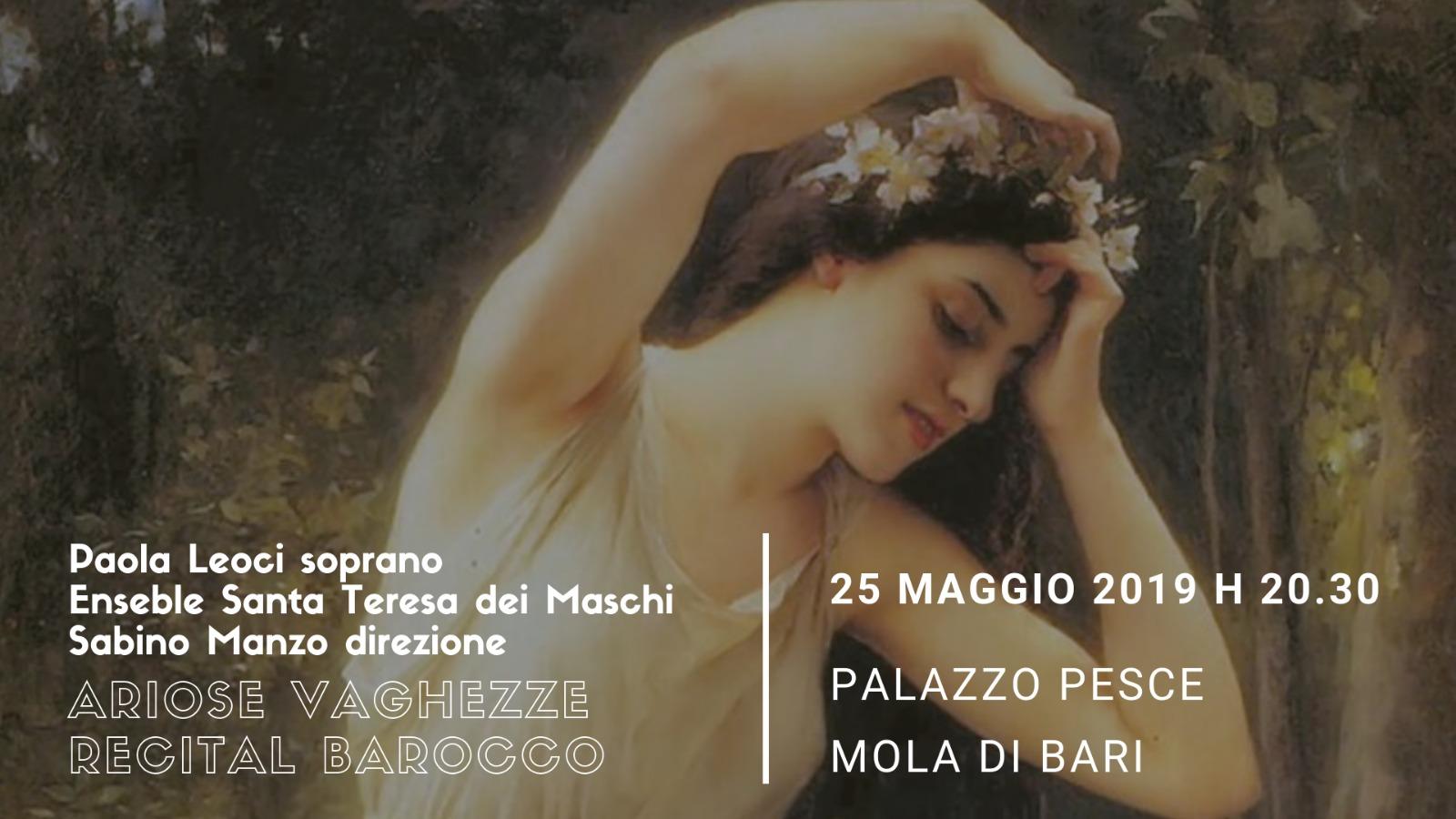 25 maggio 2019 Ariose vaghezze recital barocco a Palazzo Pesce