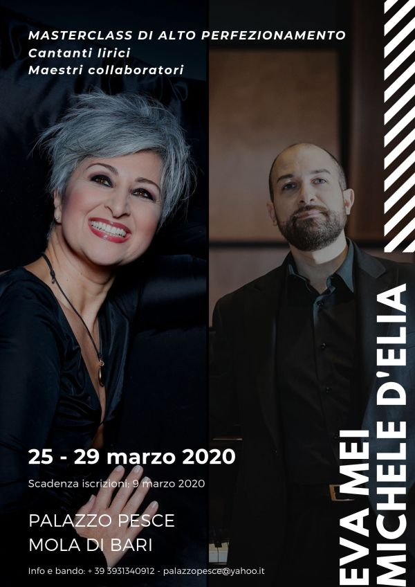 Masterclass Eva Mei Michele D'Elia 25 - 29 marzo 2020 Palazzo Pesce