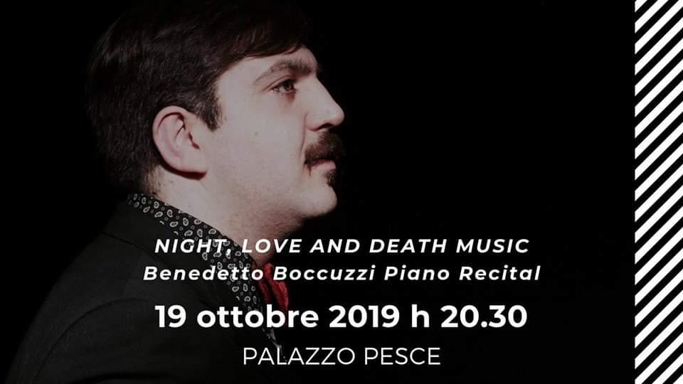 19 ottobre 2019 Benedetto Boccuzzi piano recital a Palazzo Pesce