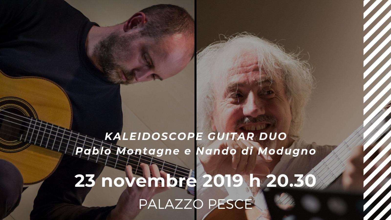 23 novembre 2019 Pablo Montagne e Nando di Modugno a Palazzo Pesce