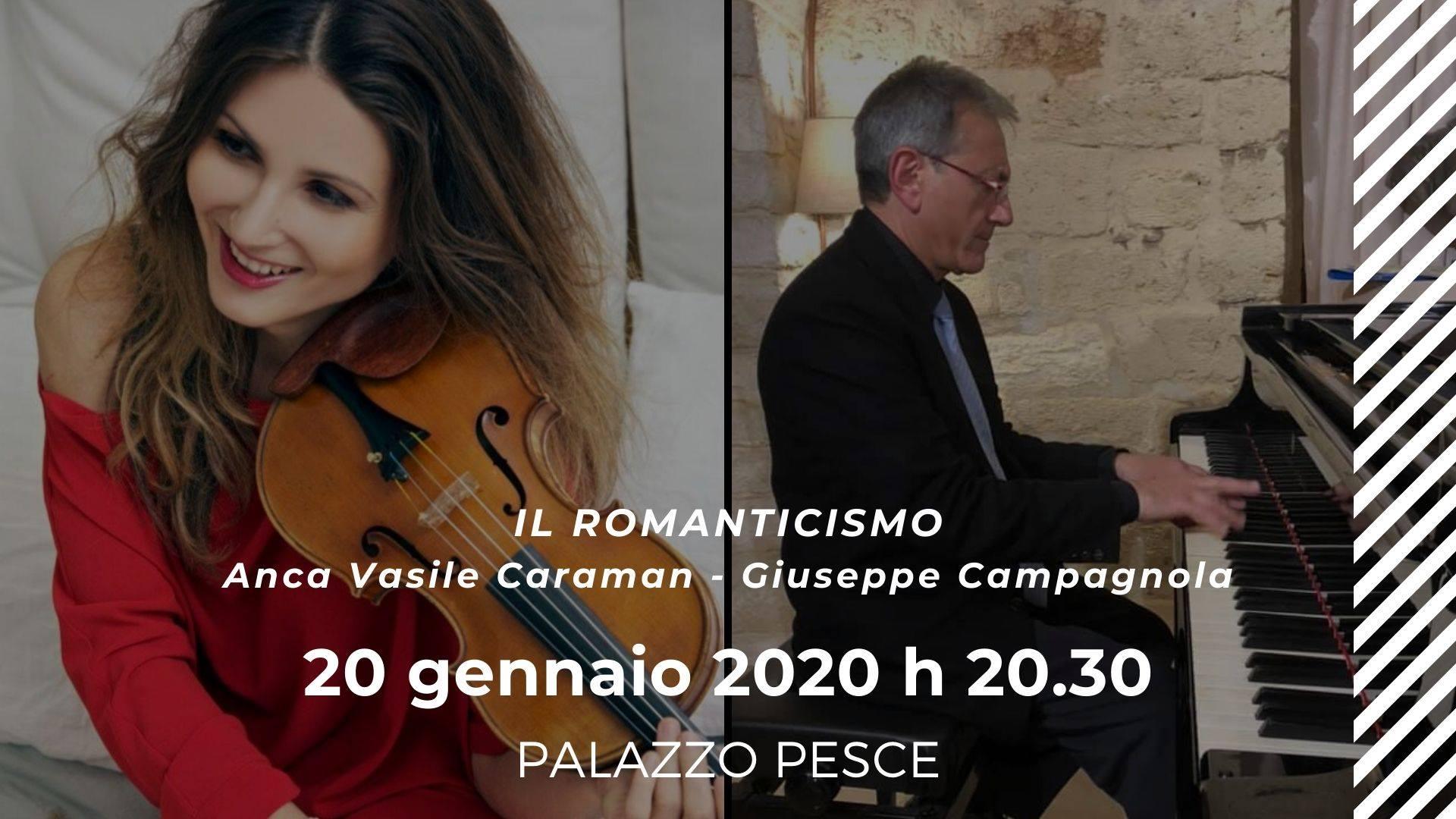 20 gennaio Romanticismo violino e piano a Palazzo Pesce