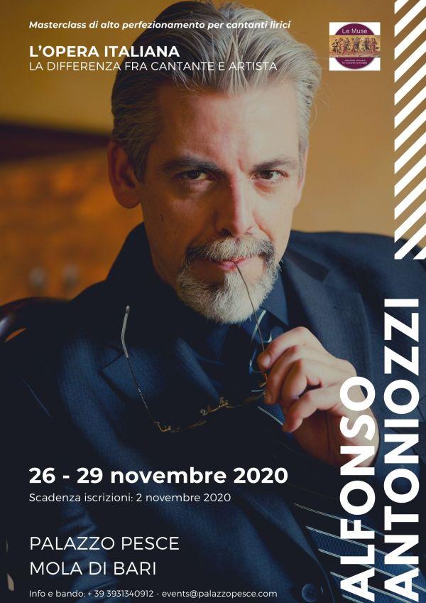 Locandina Masterclass Alfonso Antoniozzi 2020 Palazzo Pesce