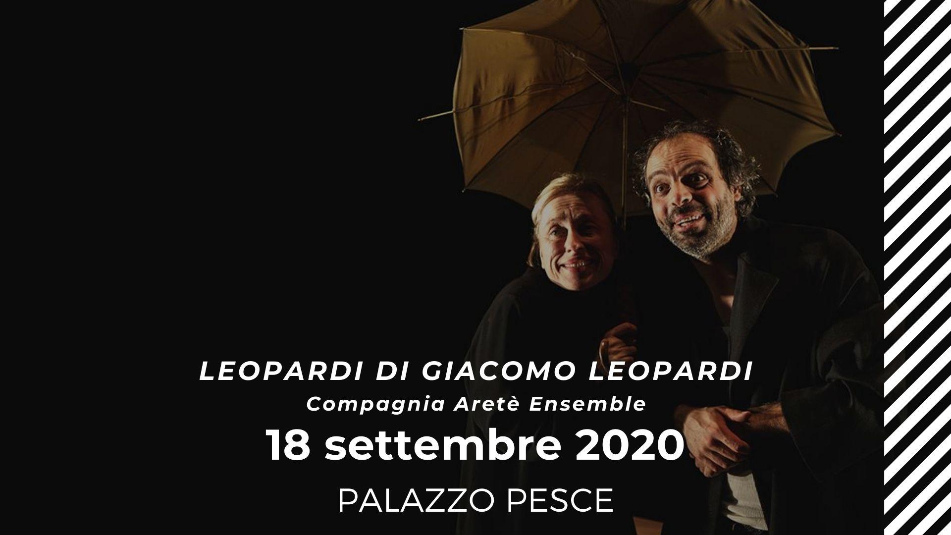 18 settembre 2020 Leopardi con la compagnia Aretè Ensemble a Palazzo Pesce