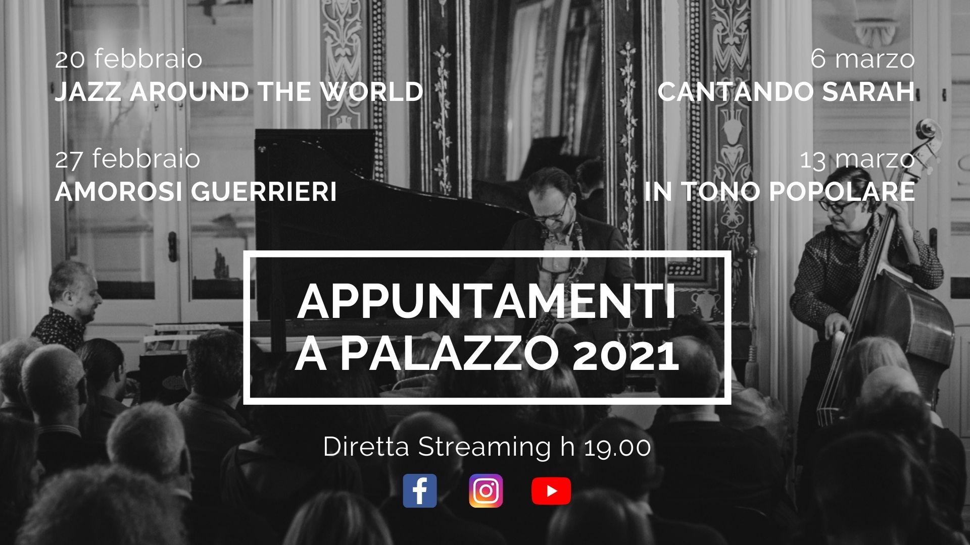Concerti in streaming 2021 a Palazzo Pesce